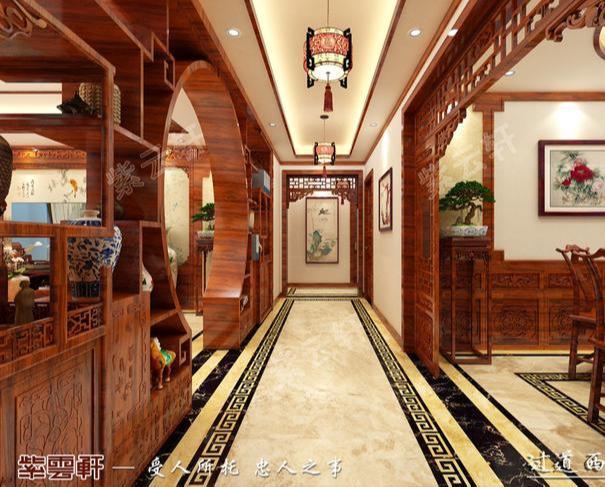 唐山业之峰梧桐府177平米新中式风格装修设计案例效果图