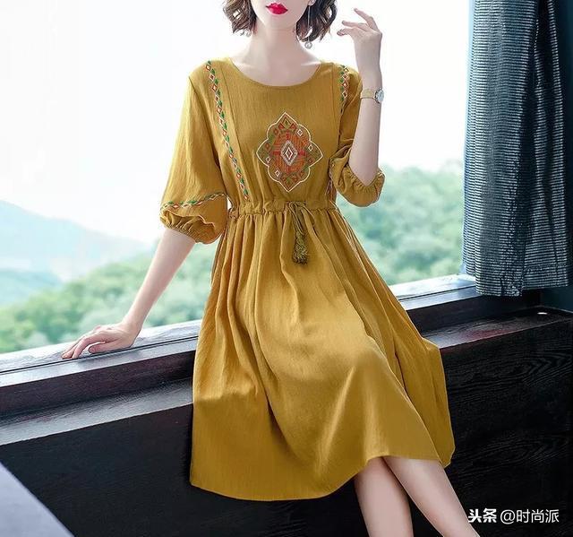 棉麻连衣裙款式大全