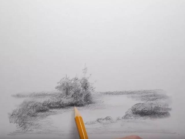 风景素描画初学者简单