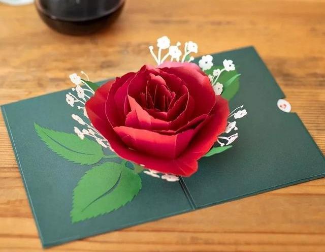 教师节立体爱心贺卡,简单几步就能做一个,手工DIY折纸图解教程