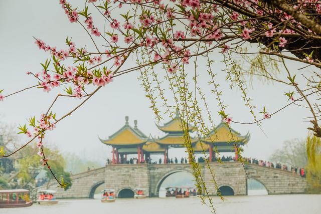扬州瘦西湖风景照