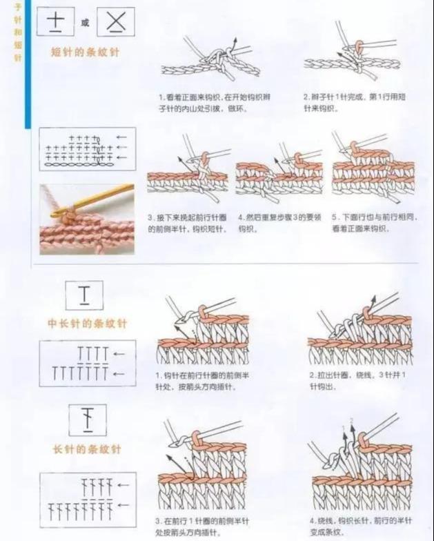 凤尾花10针编织图解