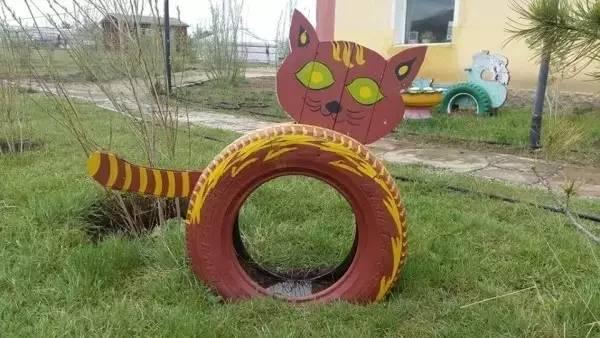 轮胎制造的创意作品,厉害了!