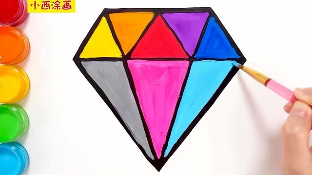 钻石简笔画图片大全