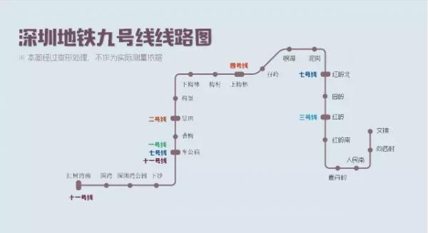 深圳地铁9号线西延线最新消息 深圳地铁9号线线路图+站点