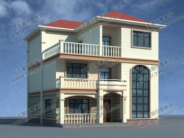求11米乘10米房屋设计图,三层,分三户,楼梯从... _一起装修网