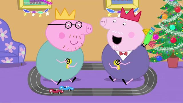 猪爸爸和佩奇和苏西来接乔治回家