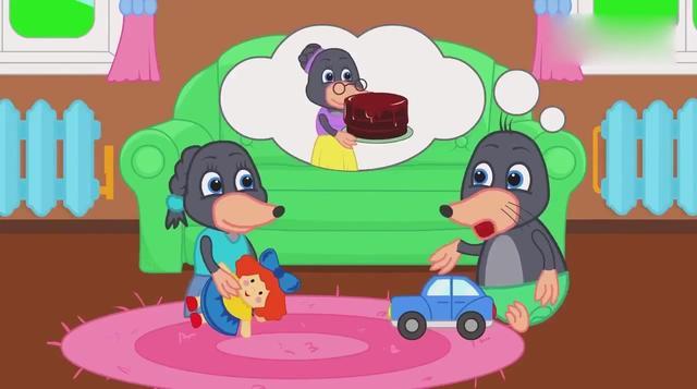 续编故事:小鼹鼠过生日