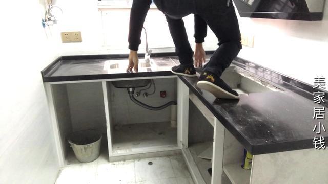 铝合金夹瓷砖整体橱柜
