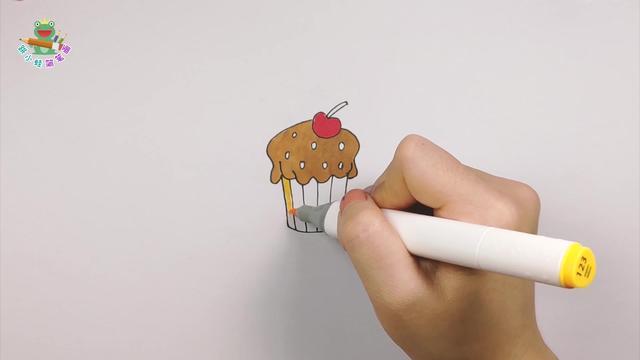 甜品的简笔画绘画作品有哪些_学习啦