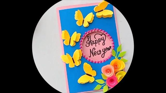 教你折纸蝴蝶贺卡,卡纸手工制作教程,简单易学_优酷