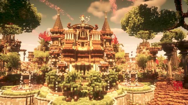 我的世界:大神打造震撼全球的八大奇迹建筑,6个已毁!