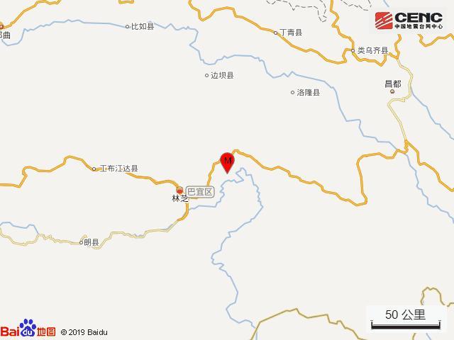 林芝旅行地图