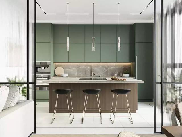 看看别人家的整体厨房,满满的高级感!