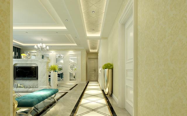 泰安书香名邸160平新古典装修,白色+流行青,低调的奢华与内敛
