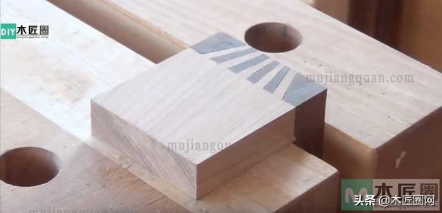 一款更能抗横击之力的木工燕尾榫制作全过程