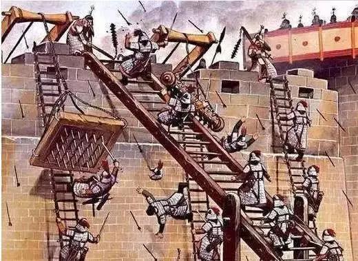古人守城时,为何不把敌人梯子直接推倒?鲁班:我的发明谁敢推?