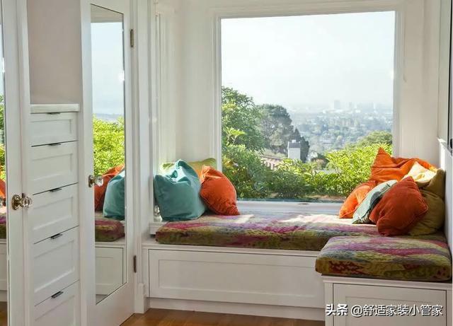 13个卧室装修不能错过的飘窗实景图,一个比一个还好看,值得参考