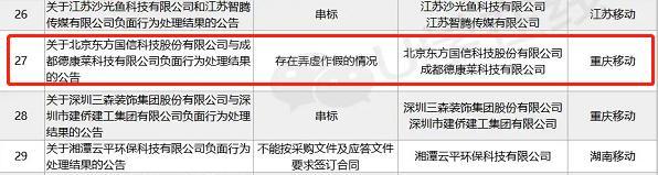 獨家:中國移動一省市公司通報東方國信招標中弄虛作假 原因未知