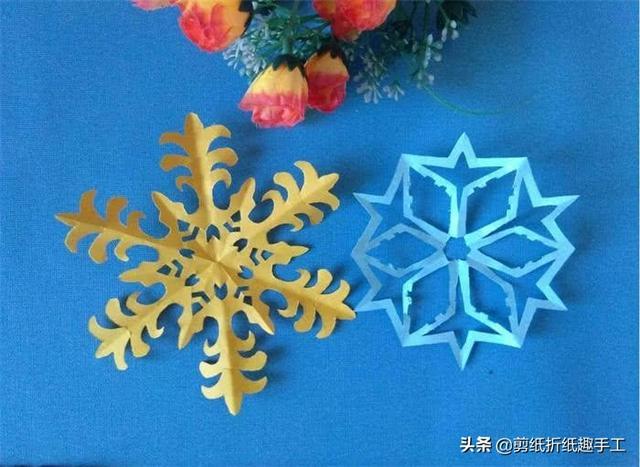 利用纸条制作雪花 手工雪花折纸图解步骤 - 冰冰手工网
