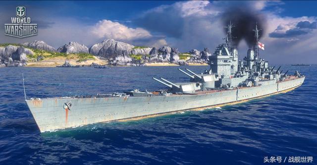 二战海战之战舰世界 英国7级战列舰纳尔逊 5杀输出157k