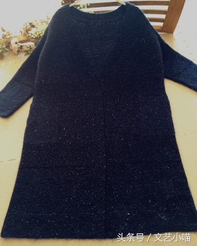 端庄大气的女性长款开衫毛衣棒针编织,附文字教程
