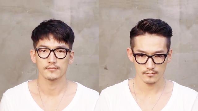 男生时髦帅气的侧分油头发型 绝对帅气男人味_男... _西子美发网