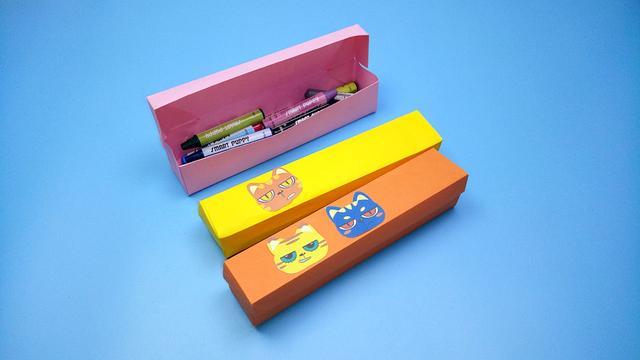 周末放假教你折一个文具盒,非常简单实用,手工折纸视频教程