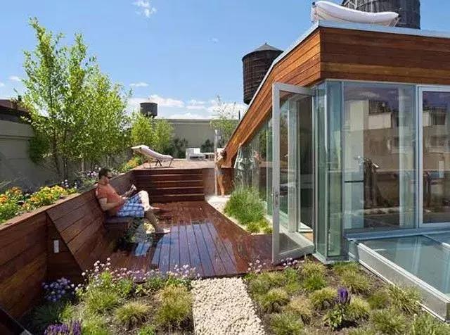 樓頂花園設計實景圖