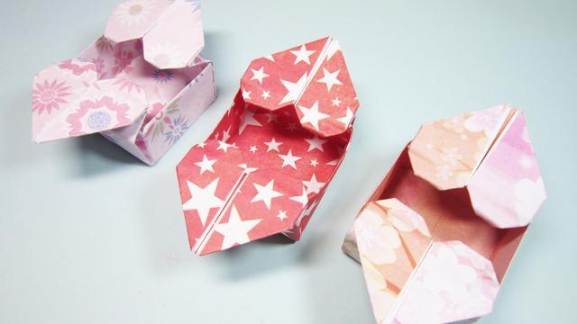 手工折纸爱心盒子怎么折_学习啦