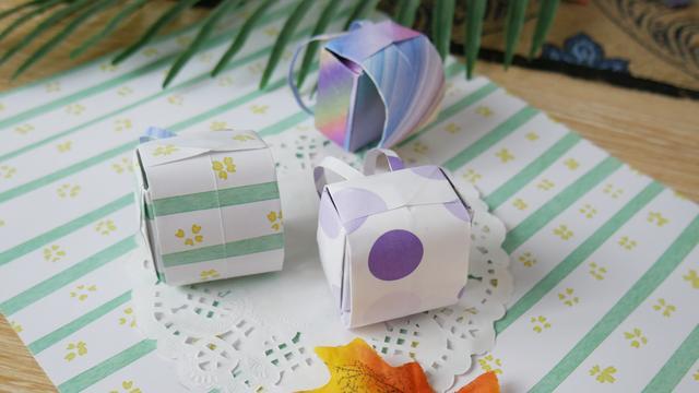创意折纸迷你小书包,原来这么简单,非常漂亮