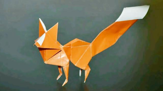 折纸大全 可爱的小狐狸折纸教程,简单易学,很适合教小朋友哦
