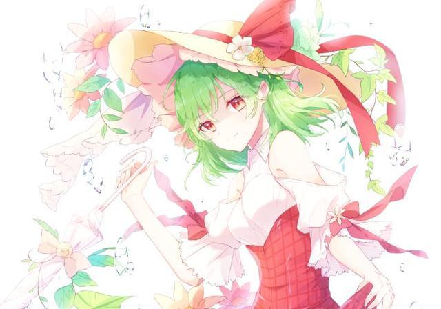 插画:花海里的绿发精灵,四季的鲜花之主风见幽香