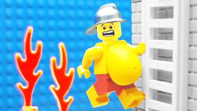 乐高定格动画-乐高肥胖消防员又来训练营了