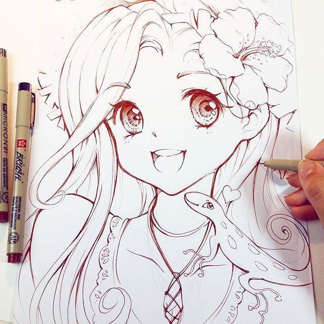 动漫女生手绘可爱,插画师笔下手绘动漫可爱美少女,超级好看!