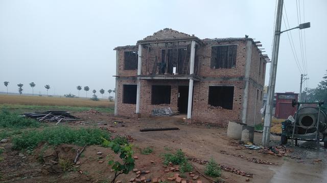 二層簡單農村平頂房