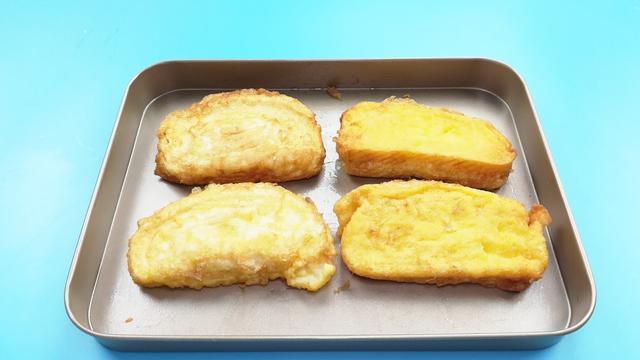 方便的早餐主食-鸡蛋煎馒头片的做法步骤