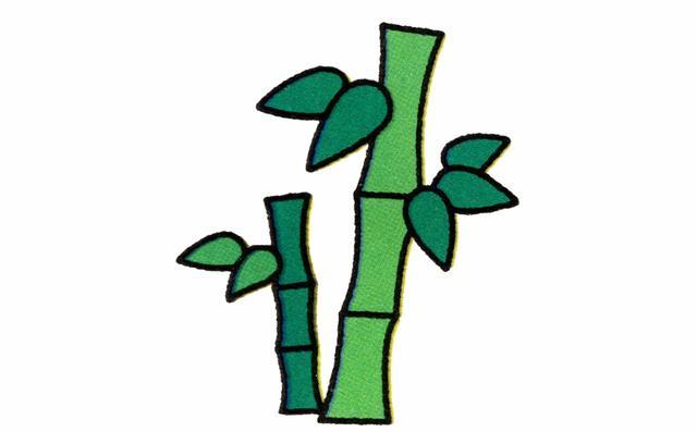 竹子简笔画 - 高光网