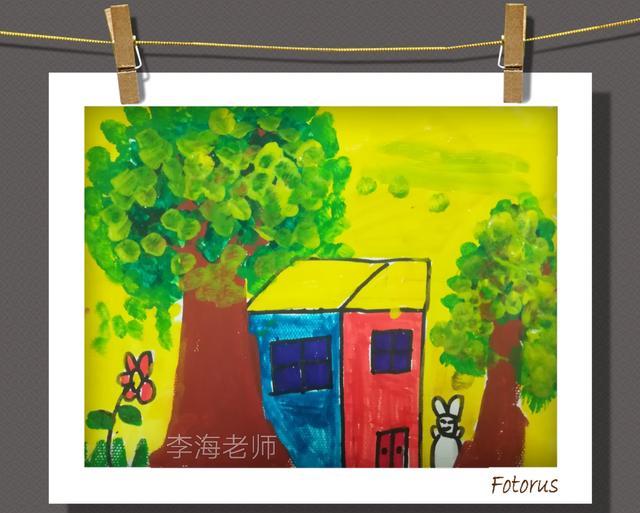 简笔画|花束 幼儿创意美术 棉签点彩画