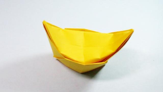 黄纸莲花元宝手工
