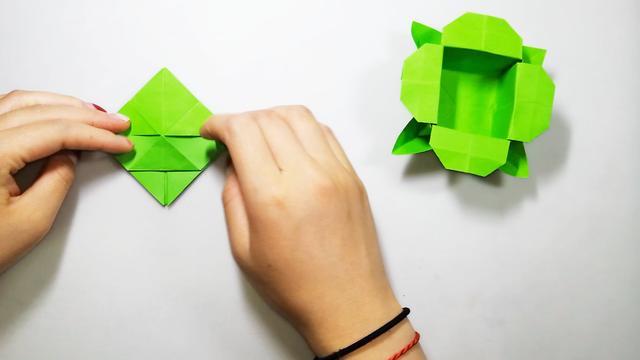 四叶草盒子的折纸图解与方法教程-折纸大全-儿童资源网手机版
