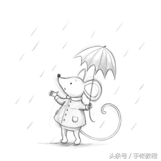 猫咪简笔画可爱
