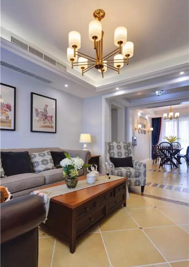 讓客廳變得更加穩重的仿古磚設計,了解一下