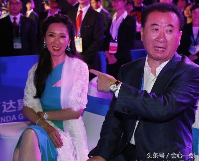 首富王健林和漂亮老婆林宁