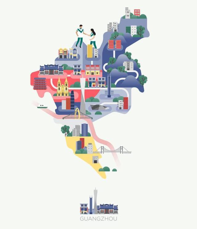 亚洲地图简笔画