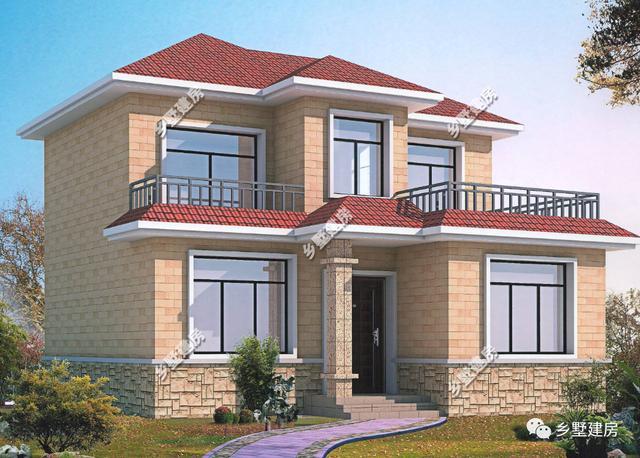 赚到了!3款农村二层别墅,18万带露台,造价经济,内部实用!