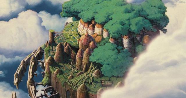 明月之城漫动,宫崎骏心中的漫画世界,从天空之城到起风了,每一个都是世外桃源