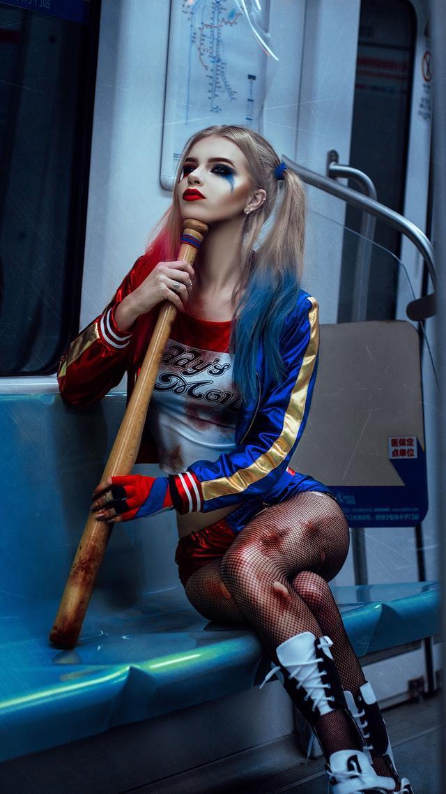 「影视壁纸」自杀小队小丑女手机壁纸