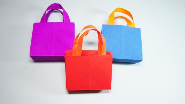 超简单的折纸礼品袋,几个步骤就完成,漂亮又实用!