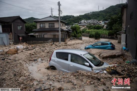 西日本暴雨死亡人数达195人 仍有数十人下落不明